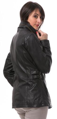 Jacky Lammnappa Lederjacke schwarz von Trendzone
