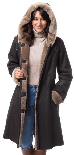 Alex 2D braun Nappalan Mantel für Damen von TREDNZONE