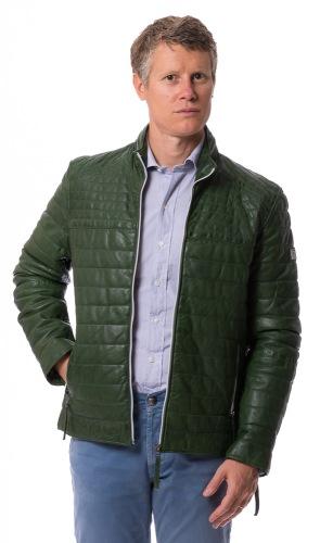 Stephano grün gesteppte Lederjacke von REDPOINT