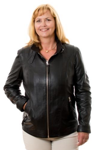 5501 schwarz Damen Lederjacke