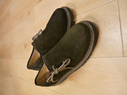 Herren Trachten Schuh Velour dunkelbraun