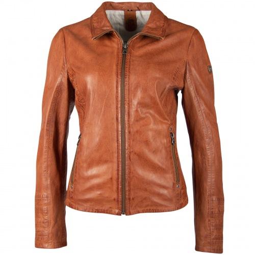 Evely cognac Leder-Jacke für Frauen von GIPSY