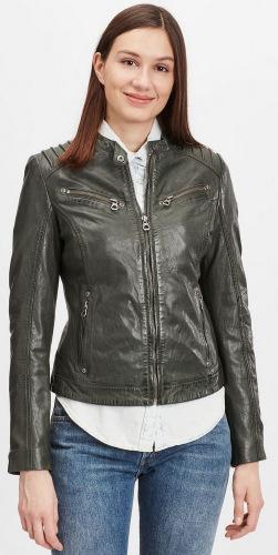 Salla grüne Lederjacke für Damen von GIPSY