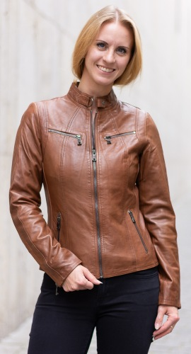 Stacy whisky Lederjacke für Damen