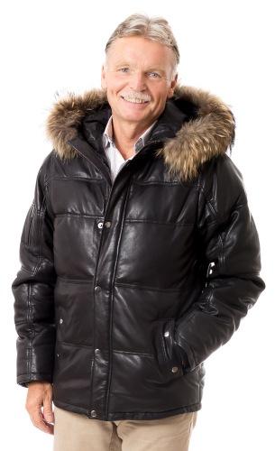 Darren Herren Leder Jacke von TRENDZONE