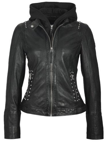 Alice schwarze Lederjacke von GIPSY