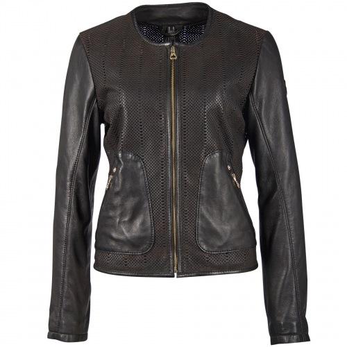 Blanka schwarze Damen Lammnappa Jacke von GIPSY