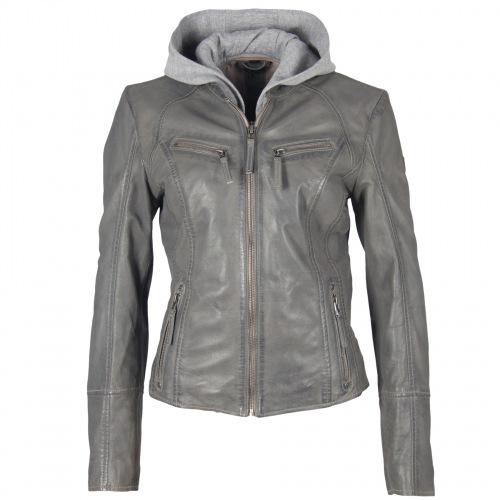 Nola grey Nappa Leder Jacke für Frauen von GIPSY