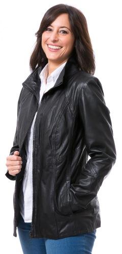Jenny schwarze Damen Lederjacke von TRENDZONE