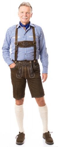 Schliersee Hose hellbraun aus Wildbock Leder