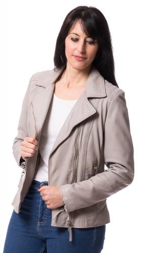 Genua taupe Lederjacke für Damen