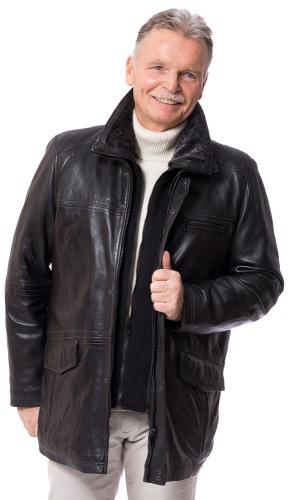 Bendik schwarze Lederjacke für Herren von JILANI