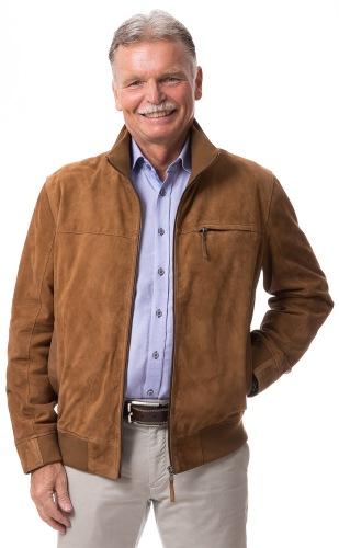 Aladin cognac Jacke aus Ziegenvelour Leder