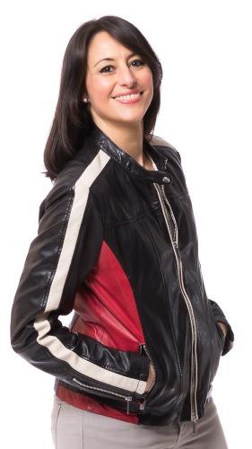 Sonia Damen Lederjacke schwarz von MILESTONE