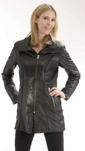 Nadia schwarz Damen Long-Jacke von TRENDZONE