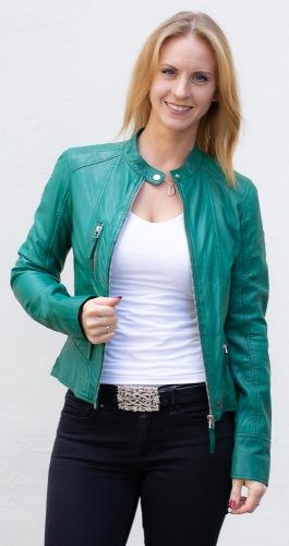 Each grüne Lederjacke für Frauen von OAKWOOD