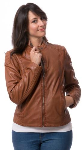New York cognac Damen Leder Jacke von TRENDZONE