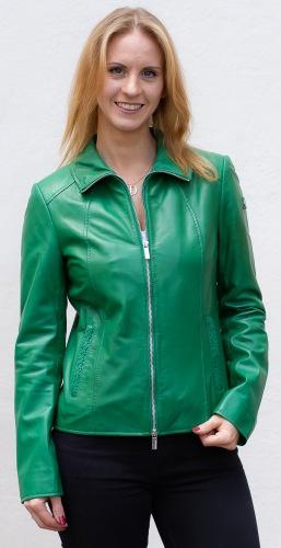 Dahlie grüne Damen Lederjacke von MILESTONE