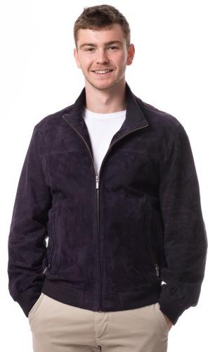 3070 dunkelblauer Blouson für Männer Ziegenvelourleder von Itallo