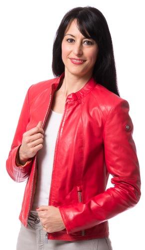 Gia rote Kurzlederjacke für Damen von MILESTONE