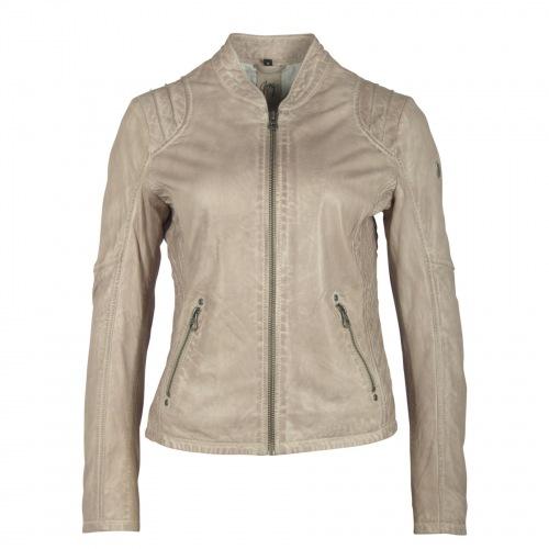 Sashi grau Lederjacke für Damen von Gipsy