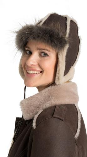 Lammfell Mütze Furry