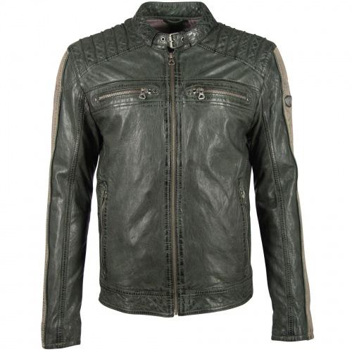 Brenton grün Lederjacke für Männer von GIPSY GIPSY-Copy