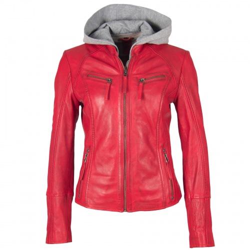 Nola rot Damen Leder Jacke von GIPSY