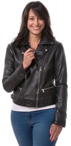 Susi schwarze Leder Jacke für Damen