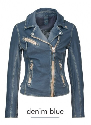 Perfecto blaue Damen Lederjacke von Gipsy