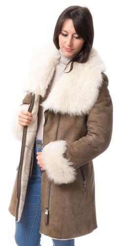 Milly schilf Lammfell Jacke für Damen von TRENDZONE