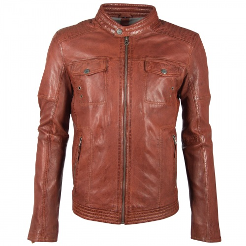 Clency Nappaleder Jacke für Männer darkcognac von GIPSY
