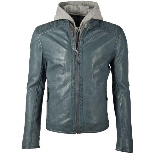 Flynt Lederjacke aus Nappaleder in blau für Herren von GIPSY