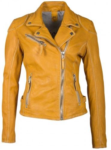 Perfecto PGG gelbe Damen Lederjacke von GIPSY