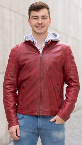 Rylo rote Herren Lederjacke von GIPSY