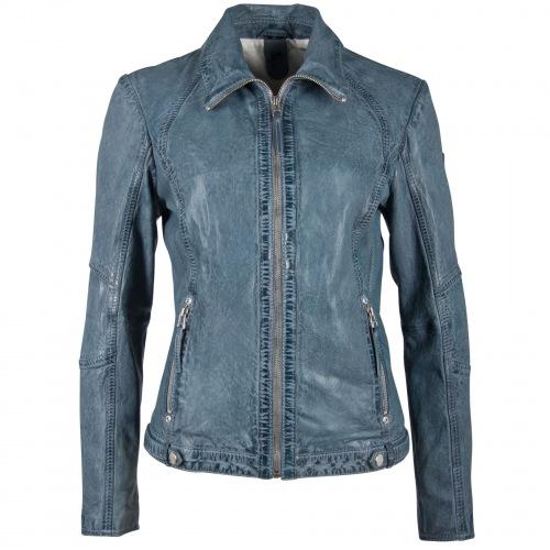 Svantje blaue Damen Lederjacke von GIPSY