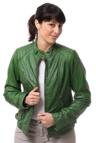 NO.10 grüne Damen Lederjacke von TRENDZONE