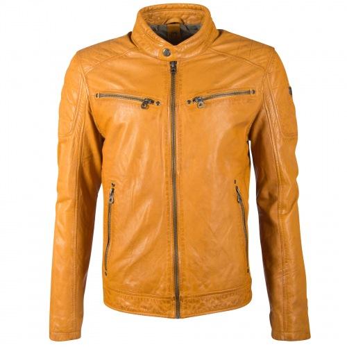 Derry Nappa Leder Jacke für Männer gelb von GIPSY