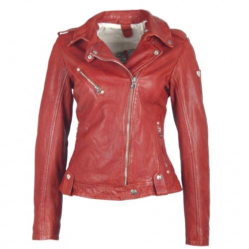 Famos Bikerjacke für Frauen in rot von GIPSY