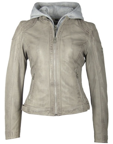 Angy graue Damen Lederjacke von GIPSY