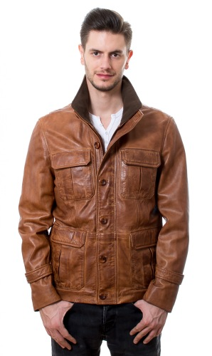 Marty Fieldjacket cognac von TRENDZONE