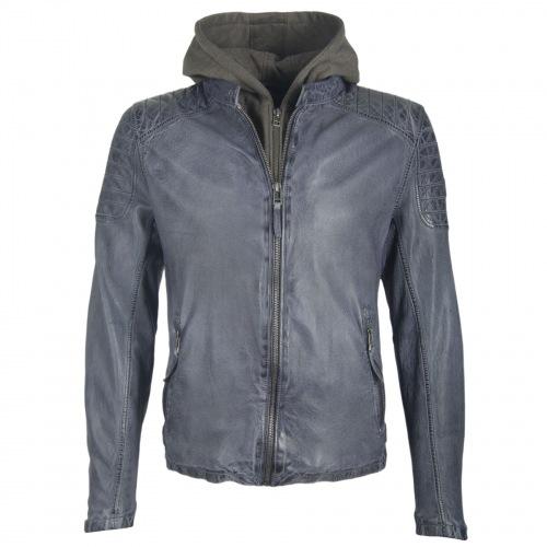 Chavis graublaue Lamm Leder Jacke von GIPSY
