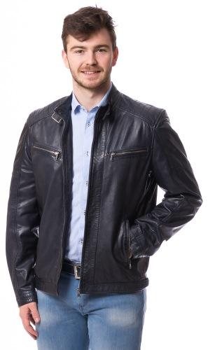 Mason dunkelblaue Lederjacke für Männer von MADDOX