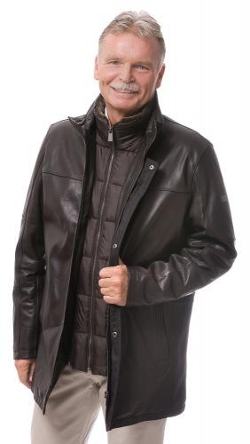 Carl dunkelbraune Lederjacke für Herren