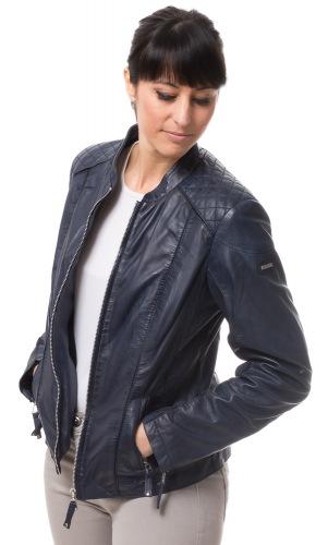 8474 blau Damen Leder Jacke von CABRINI
